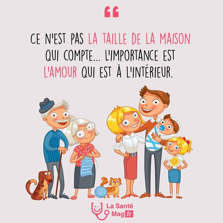 """""""Ce n'est pas la taille de la maison qui compte. L'importance est l'amour qui est à l'intérieur.""""   #lasantemag #citations #quote #inspiration #motivation"""