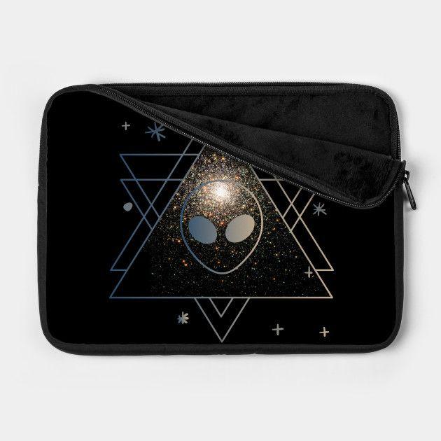 Space Geometry Alien Laptop Pouch Teepublic.#lapto…