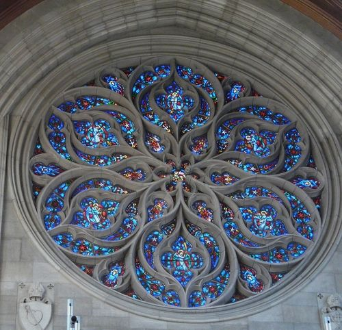 The Rose Window in the Cathedral of St. John the Evangelist - Spokane, Washington