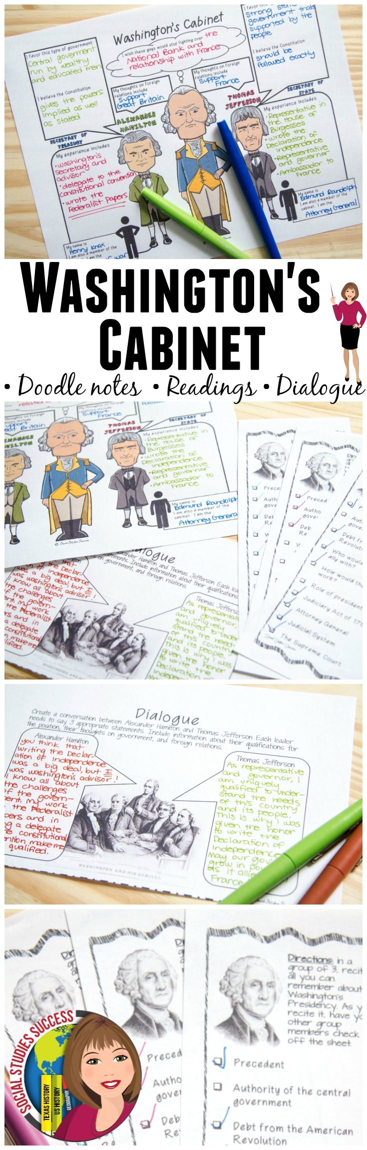 This Mini Bundle Will Provide You With Several Resources Use The Word Wall Terms To Pre Teach The Vocab Doodle Notes George Washington President History Notes