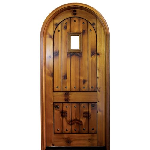 10 images about arch and round top wood doors on for Round door design