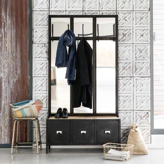 Meubles Maisons Du Monde 31 Raisons De Decouvrir Le Catalogue En 2020 Meuble Entree Miroir En Metal Noir Mobilier De Salon