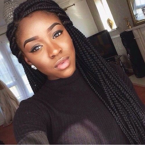 Box Braids Hairstyle Impressive 155 Best Braid Inspo Images On Pinterest  Braid Hair Styles Braid