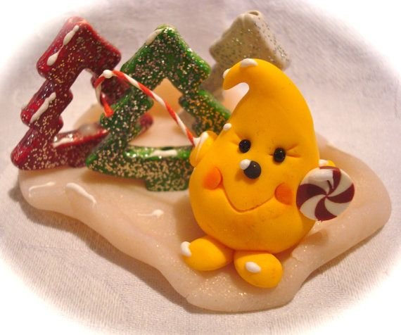 CHRISTMAS TREE Forest PARKER - Polymer Clay Character Figurine - Limited Edition