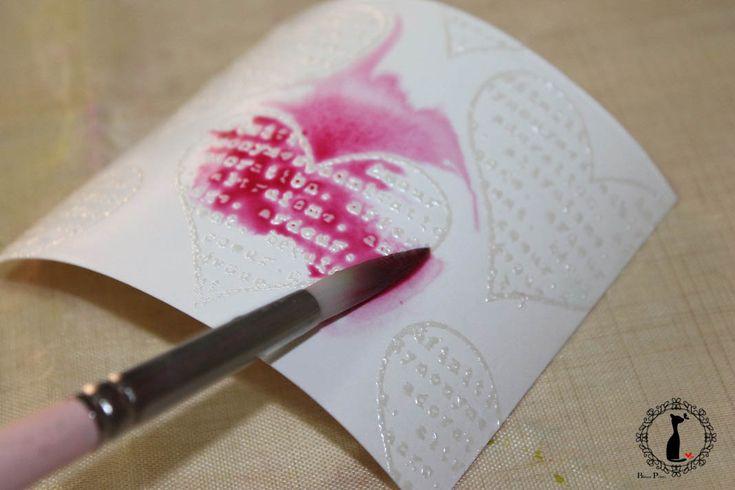 Tutorial cómo crear fondos transparentes con relieve y pintar con acuarela encima