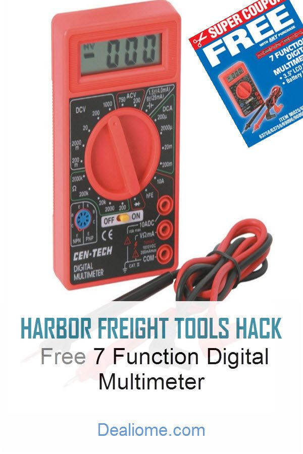 Harbor Freight Free Multimeter, Outdoor Timer For Lights Harbor Freight