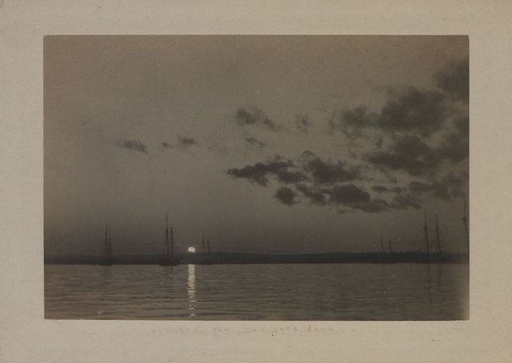 When the sun goes down  Photographer: William M. Monroe 1906