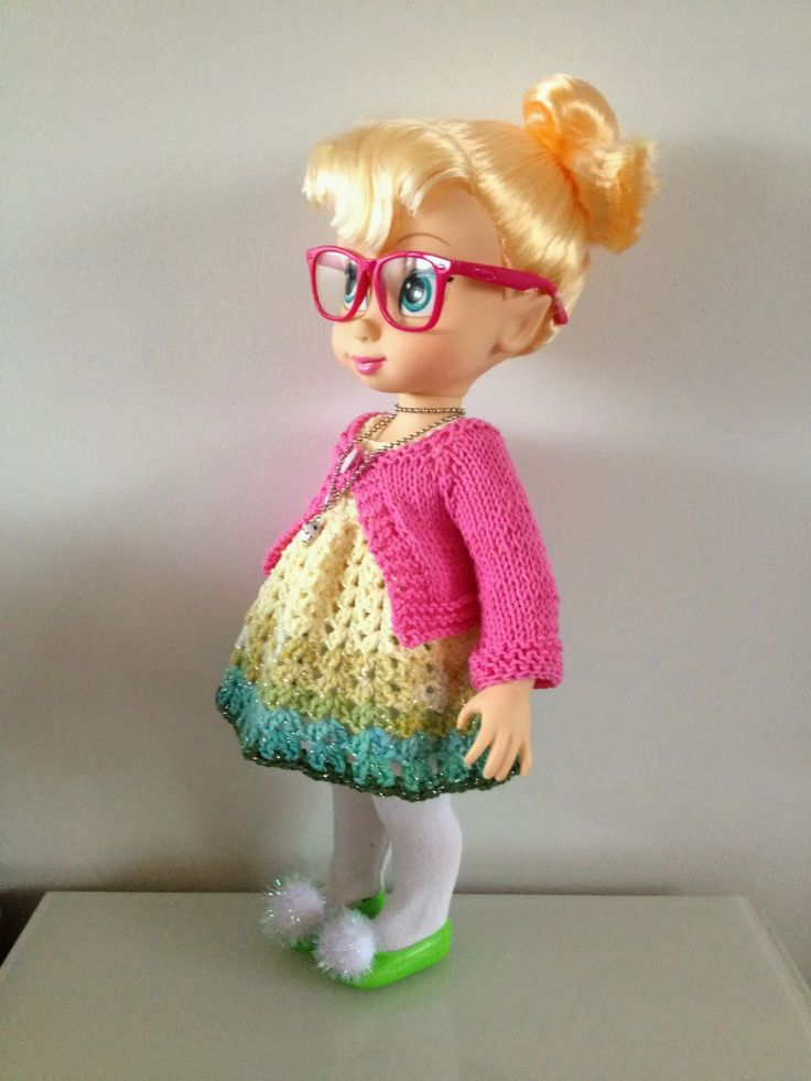 Disney animator collection - crochet dress/cardigan