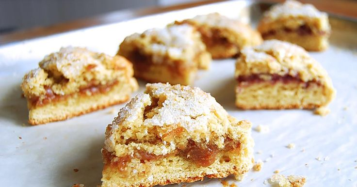 Two-layer scones filled with fruit preserves, sweetened cream cheese, or the filling of your choice.