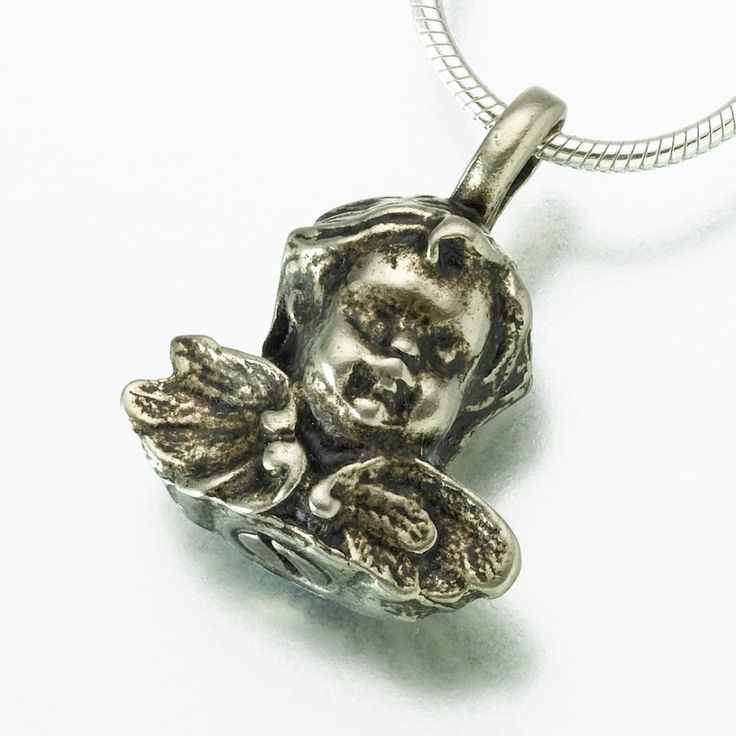 103 best cremation necklaces images on pinterest cremation jewelry antique cherub pendant cremation jewelry aloadofball Gallery