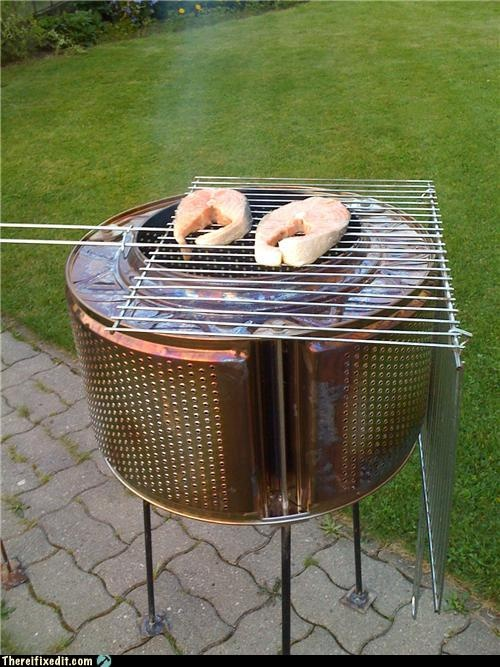 Great Diy project using a washing mashine drum.  http://thereifixedit.failblog.org/2010/08/12/white-trash-repairs-washing-machine-drum-grill/