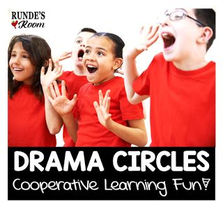 Drama Circles - such a great way to build confidence in students and practice fluency and cooperative skills