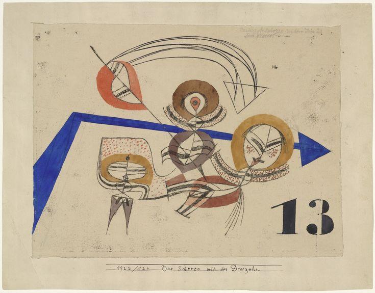 Paul Klee. Scherzo with Thirteen (Das Scherzo mit der Dreizehn). 1922