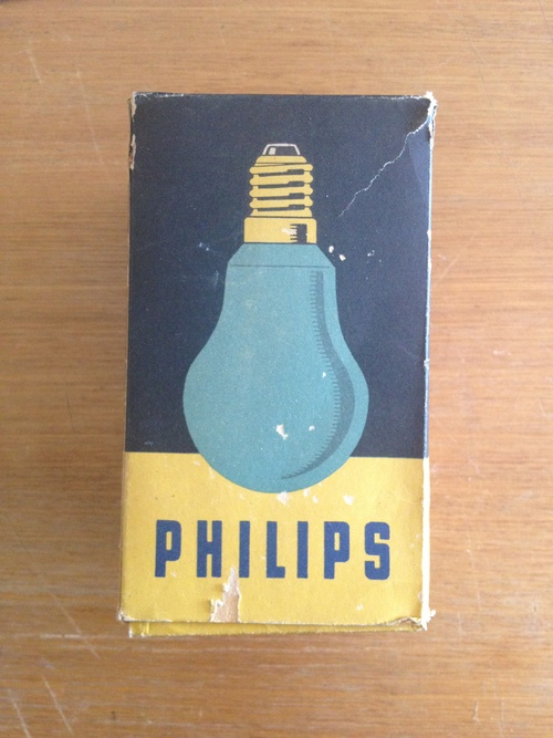 Philips dark room safety bulb (1940s)