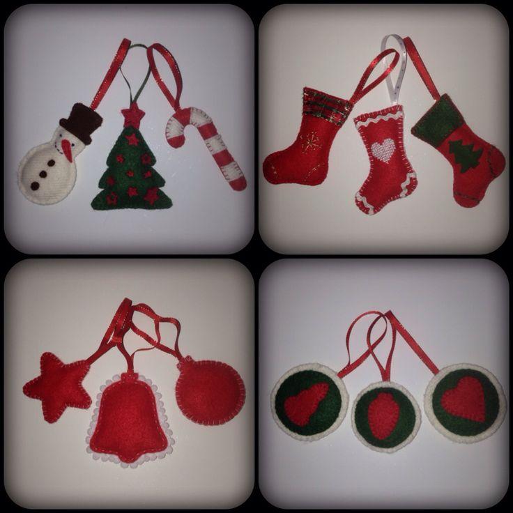 Vianocne ozdoby z filcu