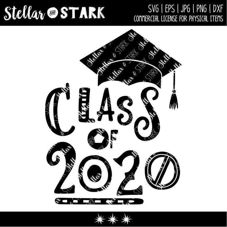 Funky Class of 2020 Graduation Cap SVG Class of 2020