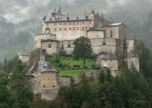 Burg Hohenwerfen Castle, Austria...majestically surrounded by the Berchtesgaden Alps.
