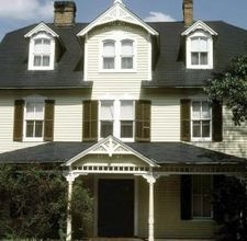 Front Porches on Georgian Colonials  By Walter Johnson [click photo]