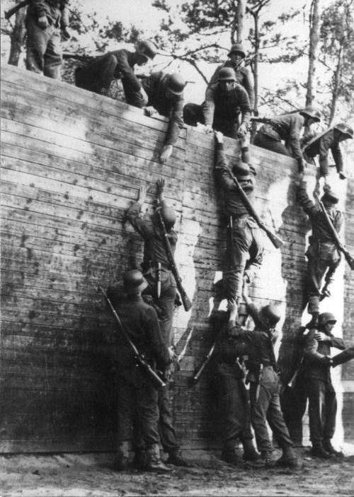 Training of the Handschar Division at Neuhammer Training Grounds in Autumn of 1943. There was the weapons training, assault course, and hand-to-hand practice.