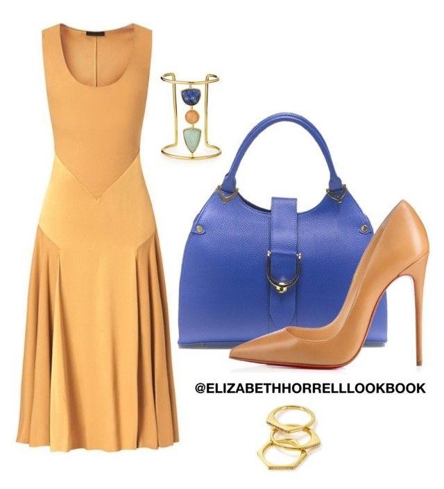 LIZ by elizabethhorrell on Polyvore featuring polyvore fashion style Burberry Christian Louboutin Lizzie Fortunato Gorjana clothing