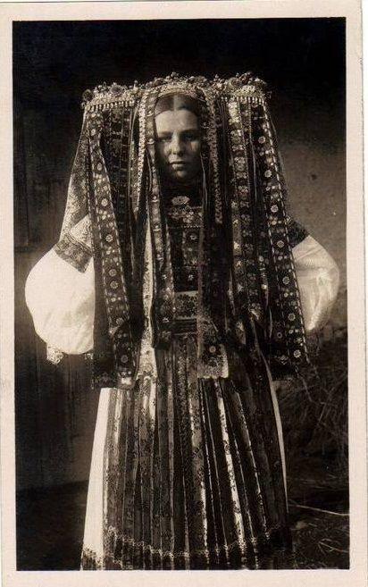 Slovak sacred dress near the Veľký Lom village, Novohrad region
