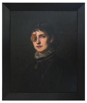 Markus Schinwald, Abby     2015     Oil on canvas