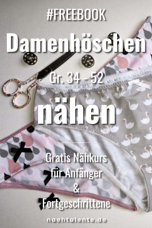 Damen Slip nähen – Gratis Schnittmuster Gr. 34 – 52 mit Nähanleitung