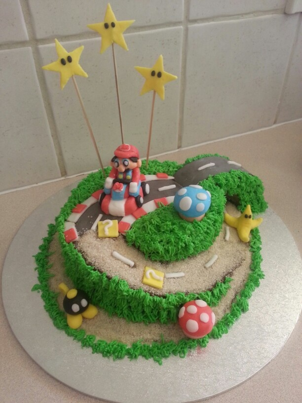 Mario Kart birthday cake - Tyson's 29th birthday
