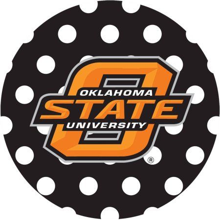 Stoneware Drink Coasters, Oklahoma State University Dots, Multicolor
