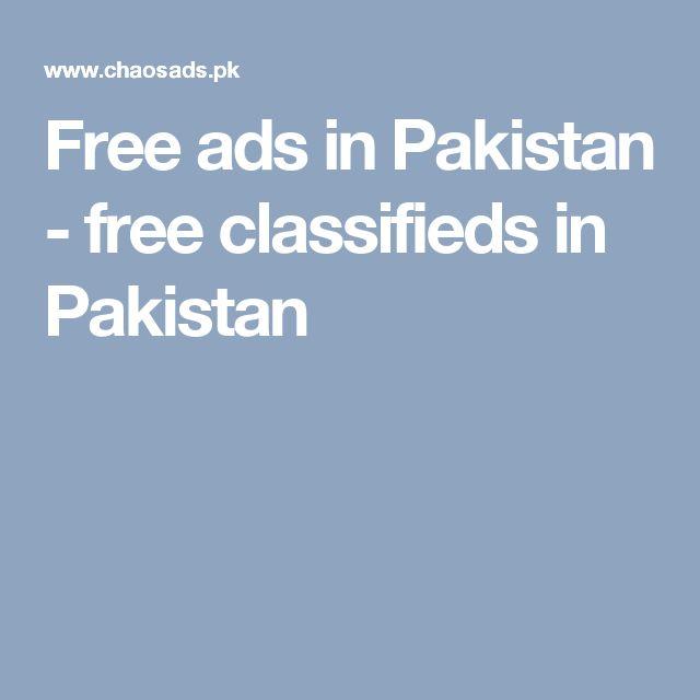 Free ads in Pakistan - free classifieds in Pakistan