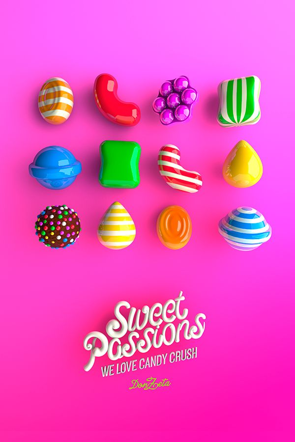 We love Candy Crush on Pantone Canvas Gallery