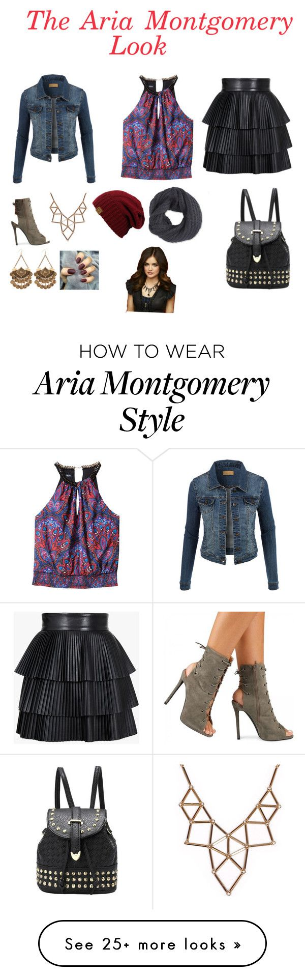 """The Aria Montgomery Look"" by elisabethbstylin on Polyvore featuring Bebe, Balmain, LE3NO, Frenchi and Chicnova Fashion"