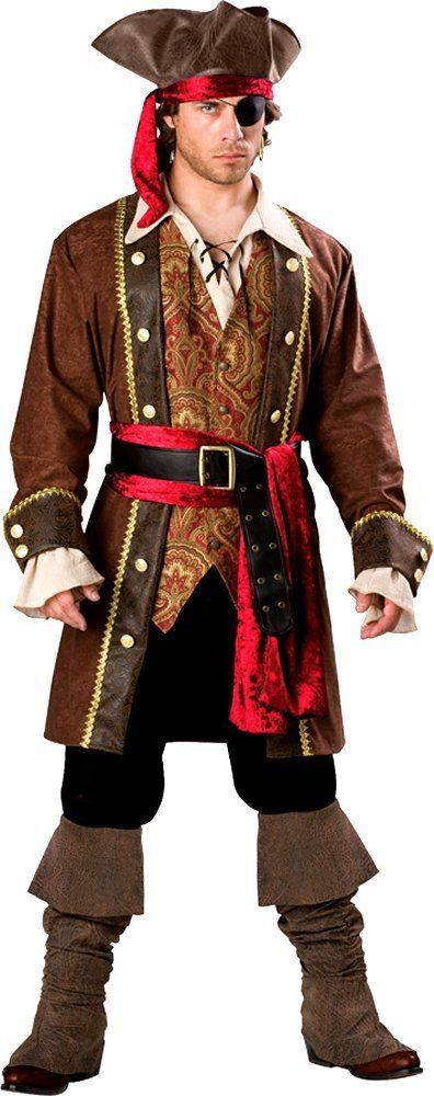 Costumes! The English Swashbuckler High Seas Pirate Captain Costume Set #IC #Costume
