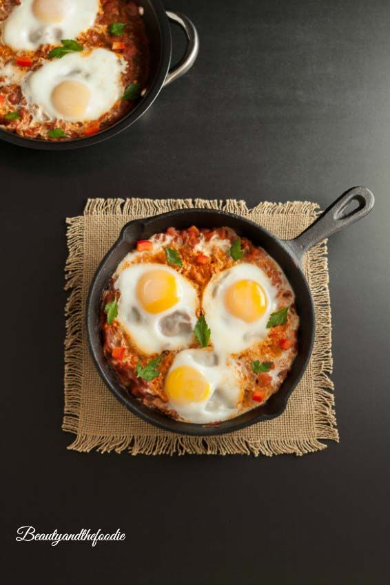 Low carb Italian Eggs in Purgatory- Grain free, paleo, and low carb