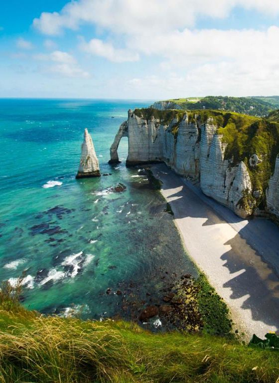 #Etretat or Étretat, #France | wanderlust nature landscape travel sea / ocean coast
