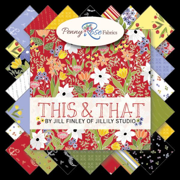 """This and That Rolie Polie - Floral Jelly Roll Fabric - Penny Rose RP-6740-40 - 2.5"""" Precut Fabric Strips - This and That Jelly Roll by Jambearies on Etsy"""