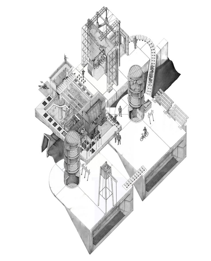 Best Axonometric Drawings Images On Pinterest Architecture