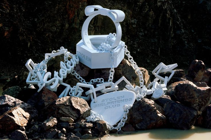New Zealand fashion brand Stolen Girlfriends Club recently super-sized their most iconic jewellery pieces for an art project, Pretty Vacant.