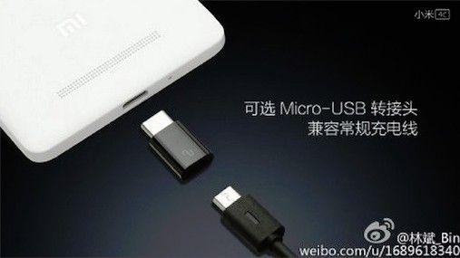 Xiaomi MI 4C akan memliki konektor USB Type-C dan Micro USBQ