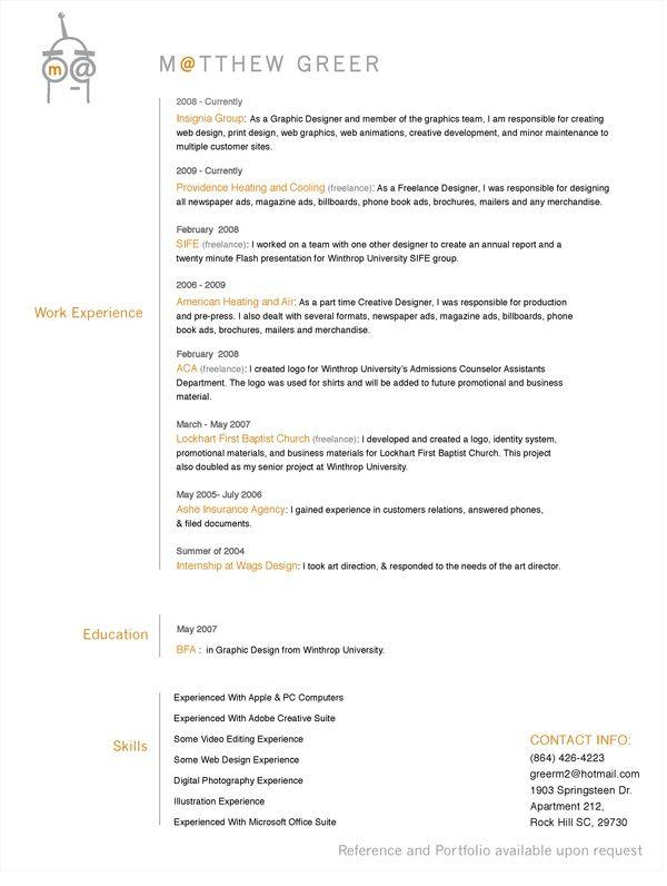 Resume for prepress