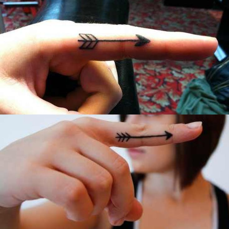 Arrow tattoo on finger ♡