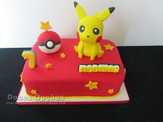 Doces Opções: O pikachu foi ao aniversário do Rodrigo