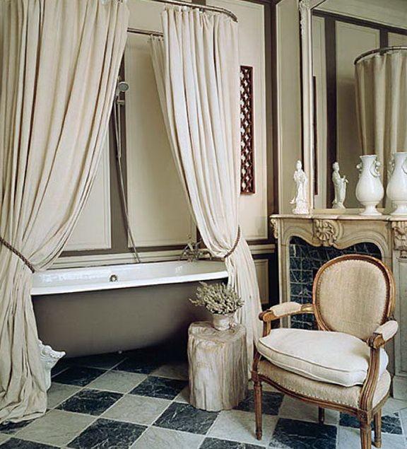 pretty billowy shower curtain