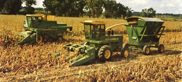 John Deere 5400 Forage Harvester And 7700 Combine