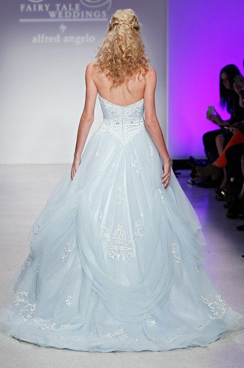 Light blue Cinderellas wedding dress | Dan  Corina Lecca,Alfred Angelo,Spring 2013