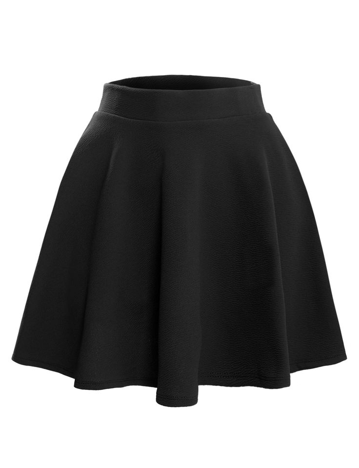 Our textured flared skater skirt is the must have item for the spring and summer time! It is a flowy fit with an inner elastic waist band for comfort. Pair it with a loose blouse tucked in the skirt f
