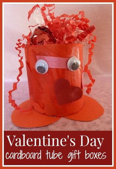 Valentine's Day cardboard tube gift boxes