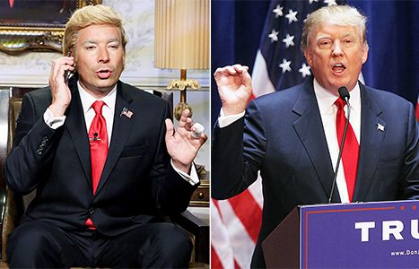 Jimmy Fallon impersonated Donald Trump on The Tonight Show