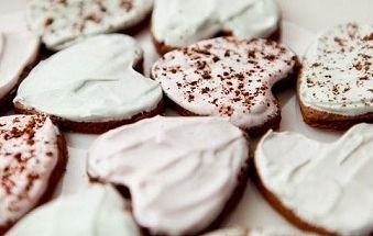 шоколадное печенье с безе