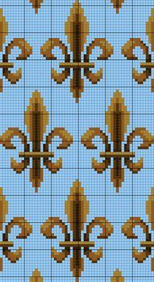 fleur de lis -- free chart: Charts Crosses, Crossstitch, Album, Flower, Charts I, Free Charts, Crosses Stitches, De Lis, Cross Stitches